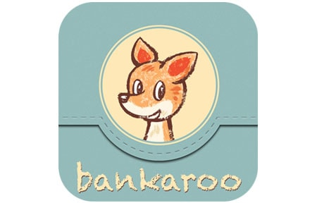 Blue bankaroo icon with kangaroo in the middle