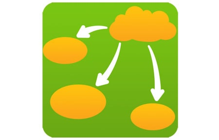 Green and yellow inspiration maps icon