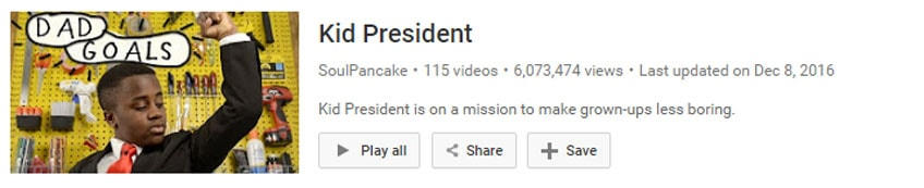 Kid president video thumbnail from youtube