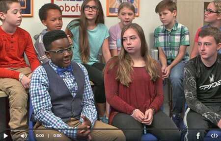 Screenshot from good morning america video where kids could not get around net nanny internet filter