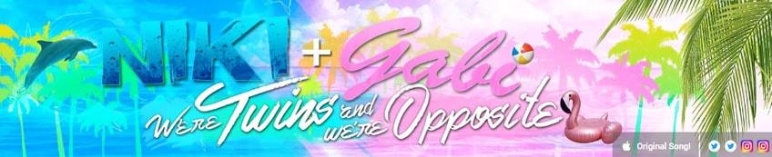 Niki and gabi colorful and tropical youtube banner