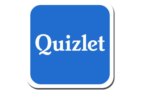 Blue square quizlet icon
