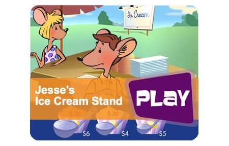 Rich smart kid showing jesses ice cream stand game