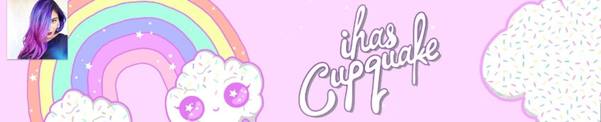 I has cup quake pink youtube banner with rainbow and clouds