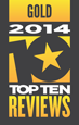 Top Ten Reviews Gold Award 2014