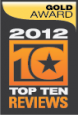 Top Ten Reviews Gold Award 2012